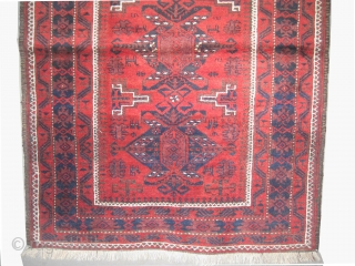 """Belutch Persian circa 1915 antique, collector's item, Size: 212 x 105 (cm) 6' 11"""" x 3' 5""""  carpet ID: K-5293  vegetable dyes, the black color is oxidized, the knots are hand  ..."""