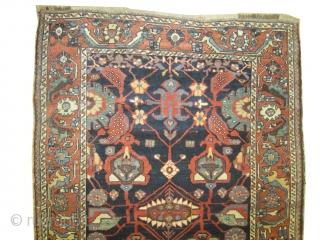 "Baktiar Louri Persian circa 1905 antique, collector's item, Size: 212 x 137 (cm) 6' 11"" x 4' 6""  carpet ID: K-4358 vegetable dyes, the black color is oxidized, the warp and  ..."
