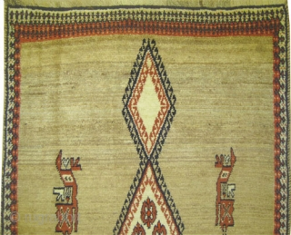 """Gabbeh Nomad Persian, old. Collector's item. Size: 200 x 131 (cm) 6' 7"""" x 4' 4""""  carpet ID: T-688 The knots are hand spun wool, the warp and the weft threads  ..."""