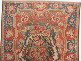 "Baktiar Ermenibaf Persian circa 1915 antique. Size: 216 x 150 (cm) 7' 1"" x 4' 11""  carpet ID: K-5527 vegetable dyes, the black color is oxidized, the knots are hand spun wool,  ..."