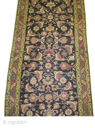 Karabag Caucasian knotted circa in 1895 antique. 580 x 91 (cm) 19'  x 3'  carpet ID: K-3468