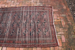 """Persian Baluch circa late 19th, early 20th century.  A beautiful rug in worn but good overall condition and not broken. Approximate Dimensions:  6' 3 3/4"""" x 3' 9 1/4"""".  Price  ..."""