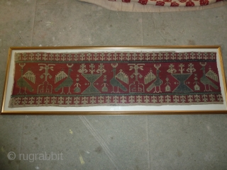 Wonderful classic Azzemour embroidery, good condition, 105 x 30 cm