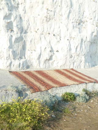 Flatwoven rug from northern afghanistan, very nice colours,