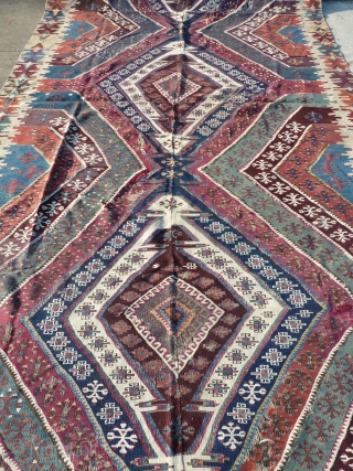Lovely south-east anatolian kilim, very good colours, 355 x 170 cm, 11.64 x 5.57 ft.
