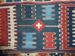 Spot the kilim, more and better colours than most, Quashgai, 19th. cent. 230 x 150 cm, 7.54 x 4.92 ft.