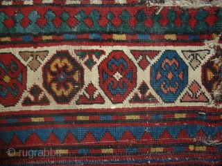 Small 'runner' two border parts of a caucasian carpet put together,  206 x 66 cm , 6.75 x 2.16 ft.