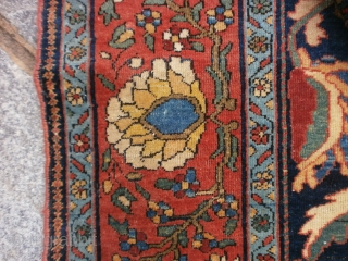 Antique FARAHAN in perfect condition: full pile any problem.