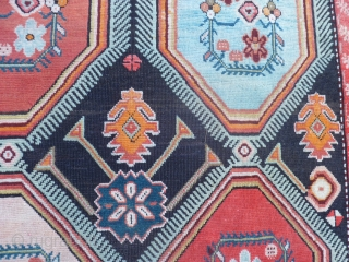 Antique runner Knotted region of KARABAGH. The size is  454 x 116 cm. Original design and very fastened colors for this runner. In very, very good condition. No holes, repils or stains. All original CAUCASUS  ...
