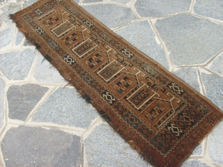 147 x 42  cm ANTIQUE Turkmen Afghan PANEL in very, very good condition. All wool and natural dyes.  Item #177. ERSARI tribe. Other info or photos about this piece on request.  GREETING from COMO ! Maurice  ...