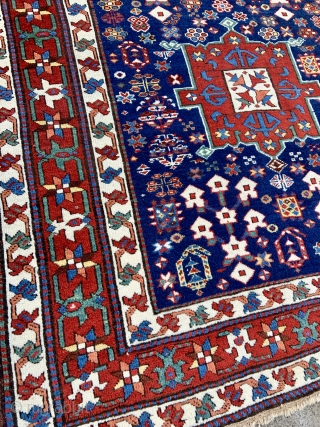 Northwest Persian Azerbaijan Caucasian Long Rug - Karadagh or Shahsavan area weaving  -tight weave , red wefts  -good condition - ask for details....