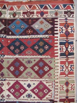 Southeast Anatolian Reyhanli Kilim - 5'10 x 12'8 ft. - 178 x 386 cm.