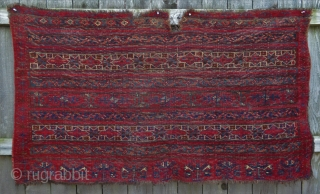 Early Turkmen Ersari Chuval with deep saturated colors - 1850 or likely before!