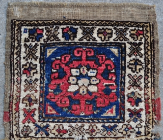 "Bergama Heybe bag faces jointed to make a Yastik size rug. 19"" x 33"" - 48 x 84 cm."