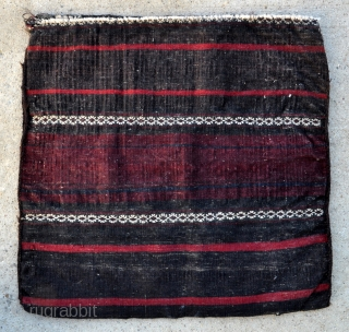 Timuri Baluch Bird Bag - complete with kilim back - 24 x 23 - 60 x 59 cm.