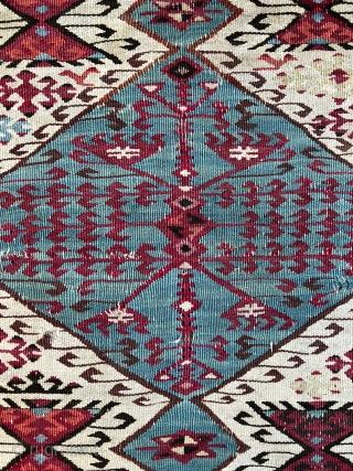 Antique Southeast Anatolian Reyhanli Kilim - 5'7 x 9'8 - 170 x 298 cm.