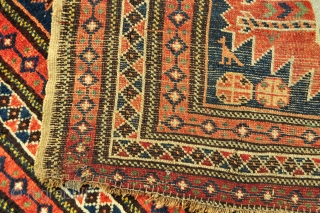 Charming small NW Persian Tribal rug - about 3'5 x 4'4 ft. - 105 x 132 cm.