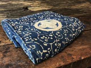 Right when you look at it, the different blue tones of this blanket have a gentle captivating vibe. The fabric is very soft and thick. This is a blanket that was used  ...