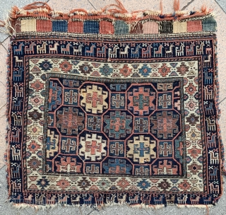 Very Charming Shahsevan bag face ! great old pattern and Border .  condition as these photos , please don't ask for more photos ,  just buy it 1500 euro+shipping from Paris.  ...