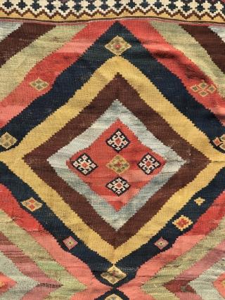 Southpersian Gashgai Kilim Mid 19th century with condition problems 260x162 cm