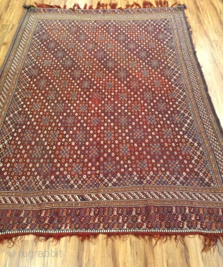 Antique Persian Tribal Afshar sumak very good condition vegetable colors Size  250x180