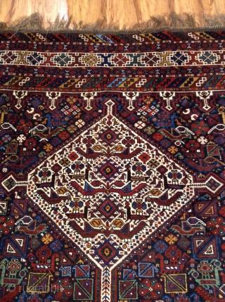 Antique Khamseh Vegetable colors very good condition size 315x212
