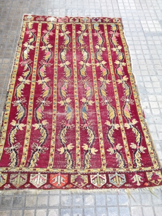 Antique Anatolian Size 175x105, some synthetic color.
