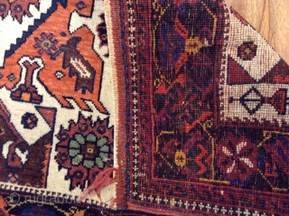 Antique .Afshar bag face .vrey good condition .size 79x65