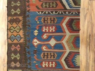 Anatolian Kilim Fragment. Size 170x71