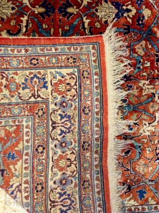Heriz silk rug 19th Size 190x135