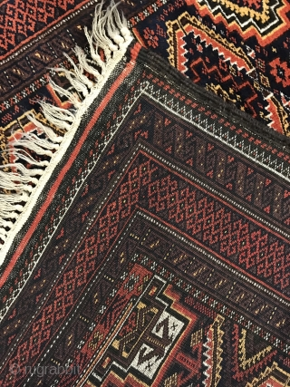 Antique Baluch vegetable colors and very good condition 