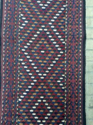 Turkmen Yomud flat weave Sumac Tent Band 19th Sizes 13 35x50