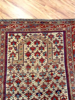 Shirvan Prayer rug  1840 Size 151x121