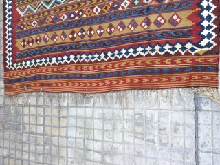 Old. Qashqai Kilim .in Excellent condition  Size 220x155