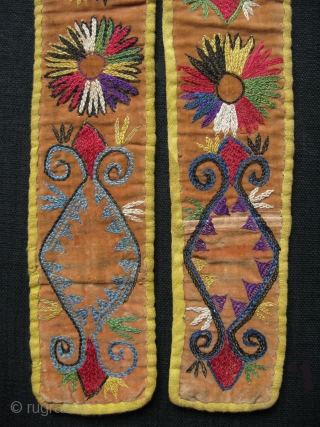 "Lakai Fine silk embroidered belts. Size: 24"" x 2"" and 36"" x 2.5"""