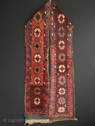 "Karakalpak rug fragment. Size: 9"" x 95"" - 23 cm x 242 cm."