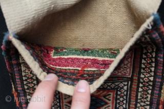 "Shahsevan small size saddlebag. Siz: 9"" x 25.5"" - 23 cm x 65 cm."