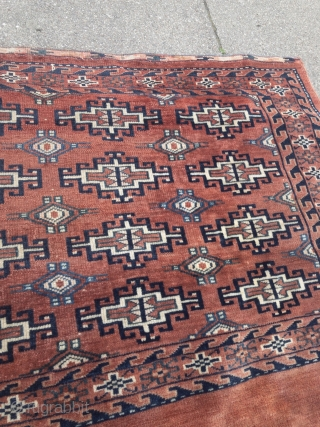 Antique Turkmen Yomud Chuval with Memling Gul design, age: 19th century. Size: ca. 115x70cm / 3'8''ft x 2'3''ft nice collector´s piece