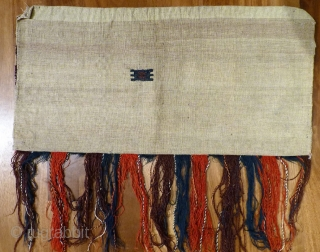 An extremelly fine Yomut bag in overall good condition with some small repairs on the sides and a bigger repair at the back. It has been opened out. Very finelly spun wool  ...