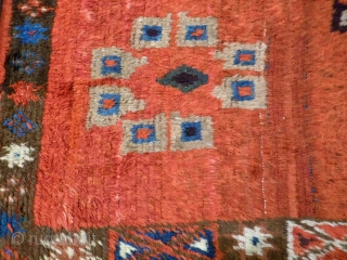 A fantastic primitive looking 19th century Julkhyr. It is loosely woven, with long pile and soft and shinny wool. A remarkable piece. 196X164 CMS. A1710044.  For more information, please get in touch, or  ...