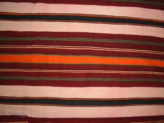 Flatweaves cover cod. 0301. Wool traditional dyes. Morocco. Size cm. 185 x 400 (73 x 158 inches).Very good condition.