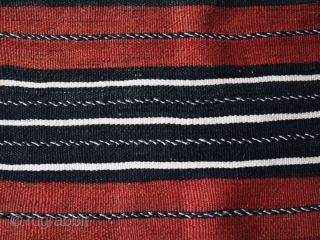 Women' s cape Handira cod. 0731. One of the pieces added on my website www.nonplusultra.cloud. Wool  natural dyes. High Atlas mountains – Morocco – Agoudal village – Hait Hdiddou people. Early  ...