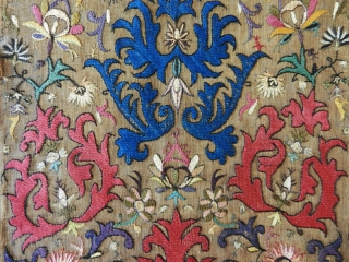 Algerian silk embroidery cod. 0732.  18th. century or earlier.