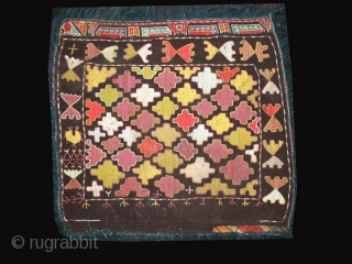 Kungrad mirror cover cod. 0047. Early 20th. century. Size cm. 64 x 80 (25 x 32 inches).Mounted on linen.