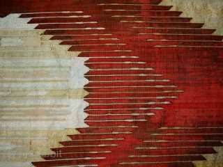 Pair of textiles cod. 0673. Silk metal threads. Aleppo – Siria. Late 19th. century. Measurement cm. 70 x 296 each ( 27.5 x 116.5 inches each). Very good condition with some missing  ...