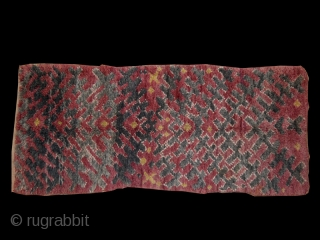 Moroccan pile carpet cod. 0654. Wool traditional dyes. Ait Bou Ichaouen tribe. Talsint area. Mid. 20th. century. Very good condition. Size cm. 88 x 152 (35 x 60 inches.