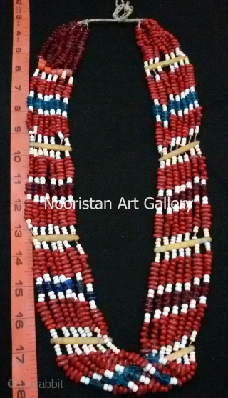 Old traditional women's beaded necklace from Kalash Valley (Pakistan) For more details and Price inquiry feel free to contact