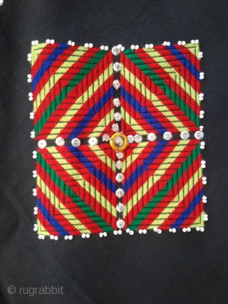 Tribal Kohistan Valley woman wedding shawl.Complete hand embroidery.