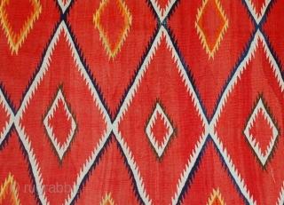 Handmade antique collectible Native American Navajo blanket 4.7' x 7.7' (143cm x 234cm) 1870s - 1B557