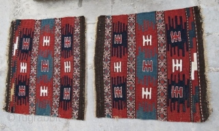 Shasavan a pair of mafrash panel,54 x 50 cm